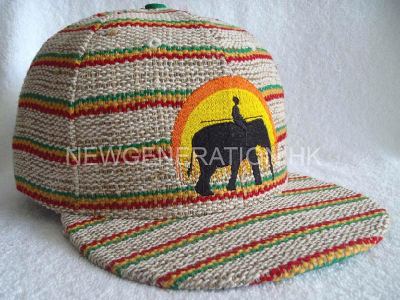 Hemp Fitted Cap With Flat Embroidery