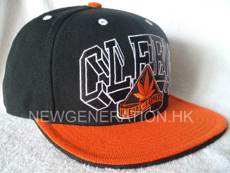 Snapback Hat With Flat Embroidery