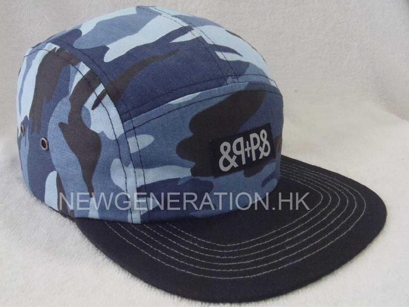 Camo 5 Panel Camp Cap With Woven Label