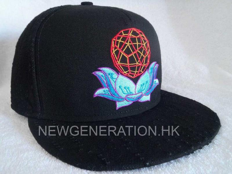 Acrylic Snapback Cap With Flat Embroidery Sublimation Satin Lining
