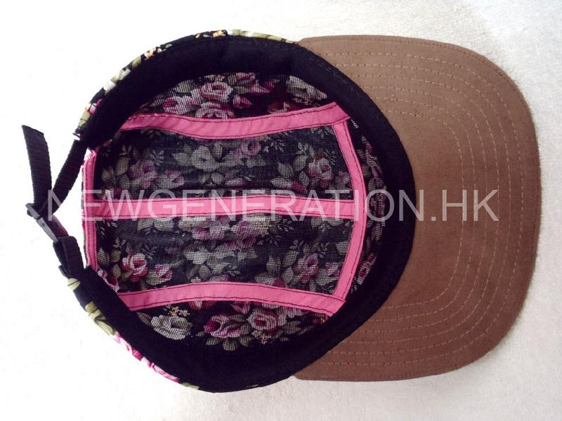 Floral 5panel Camp Cap With Deboss Leather Patch6