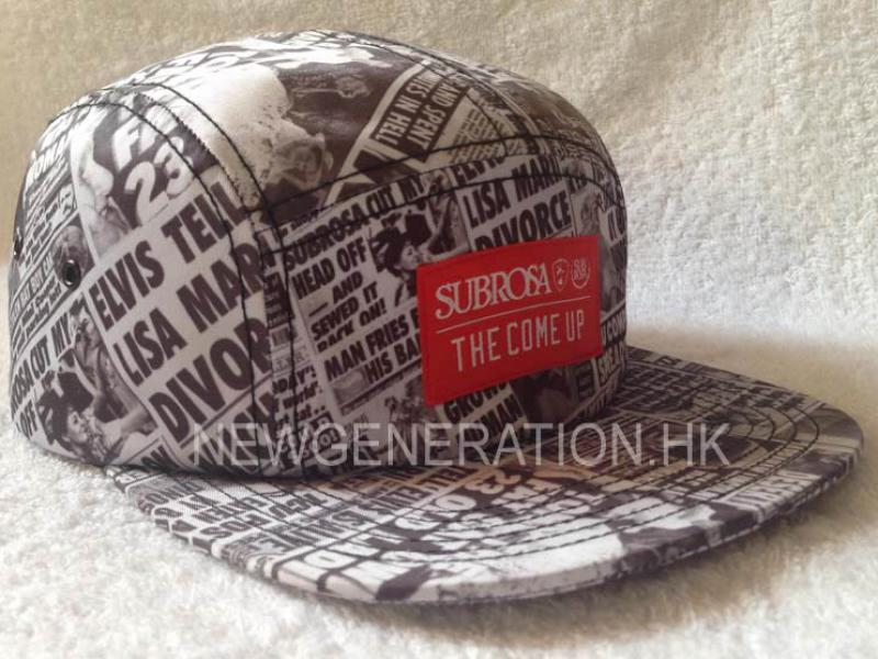 Sublimation Print Camp Cap With Woven Label 1