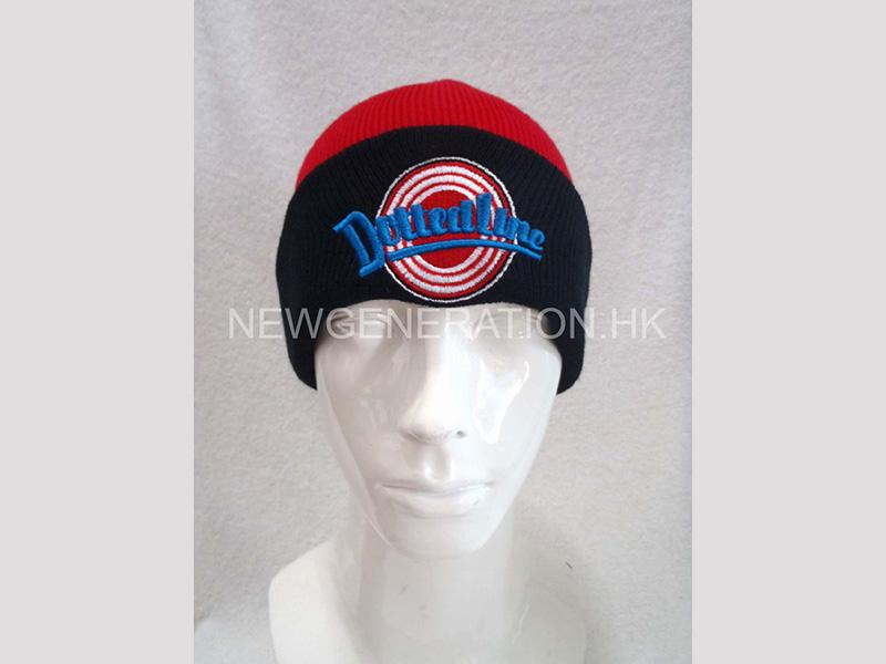 Beanie Hat With Embroidery Front Logo