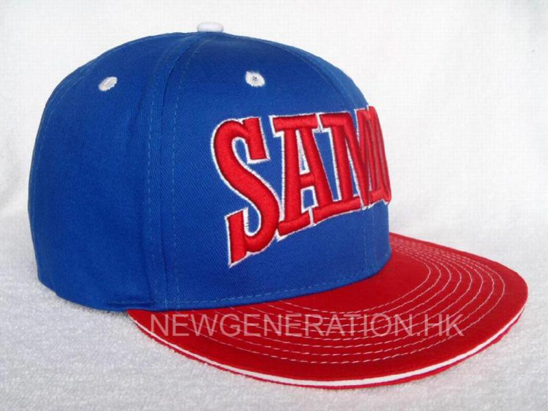Cotton Snapback Cap With 3d Embroidery1