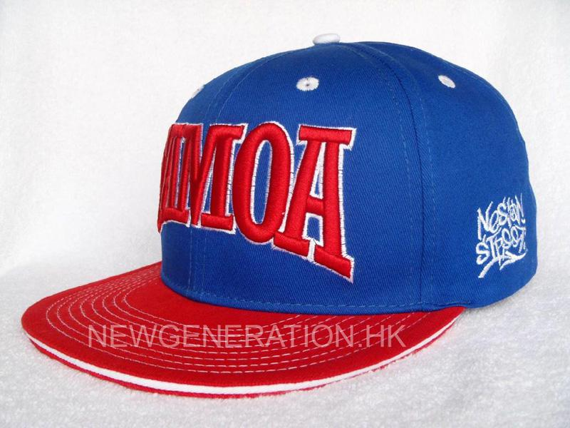 Cotton Snapback Cap With 3d Embroidery2