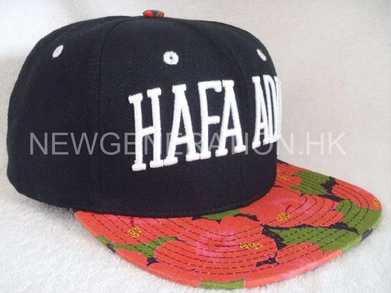 Water Based Print Flower Pattern Snapback Cap with 3D Emb