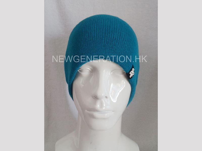 Acrylic Beanie With Rubber Patch