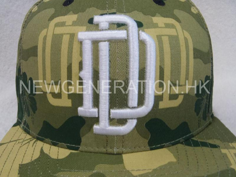 Print Camo Pattern Snapback Cap With Raised Emb3