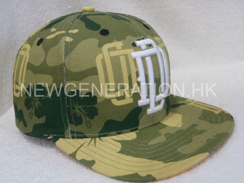 Print Camo Pattern Snapback Cap With Raised Emb