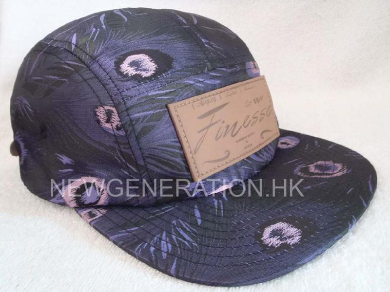 Customers Fabric 5 Panel Camp With Leather Deboss Patch1