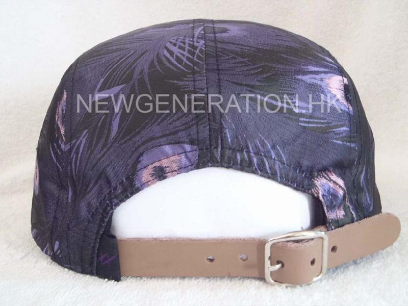 Customers Fabric 5 Panel Camp With Leather Deboss Patch5