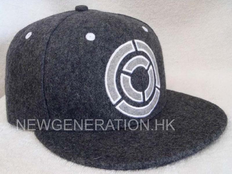 Hair Wool Snapback Cap With Embroidery Logo