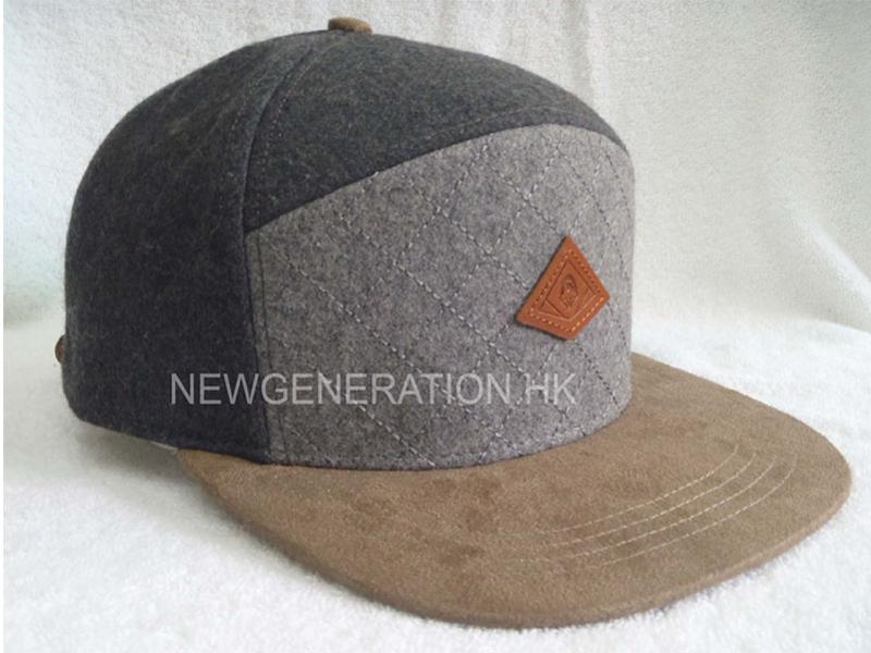 Hairy Wool 5 Panel With Leather Patch
