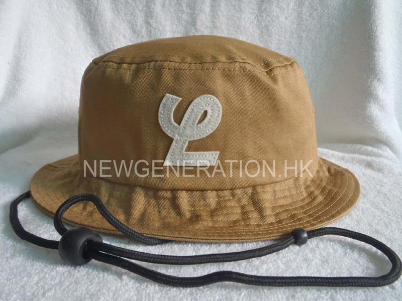 Cotton Bucket Hat With Felt Logo