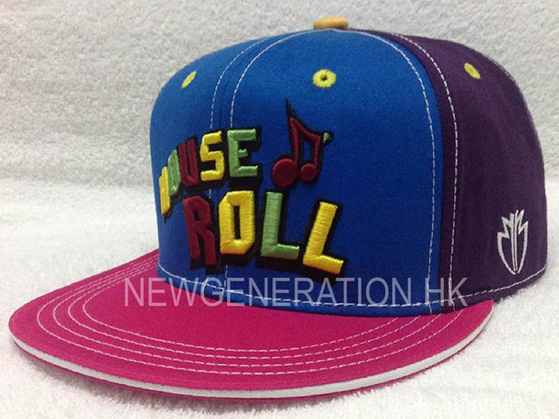 Cotton Snapback Cap With Mutlicolor 3d Embroidery2