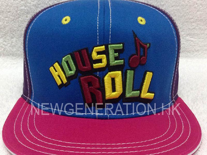 Cotton Snapback Cap With Mutlicolor 3d Embroidery3