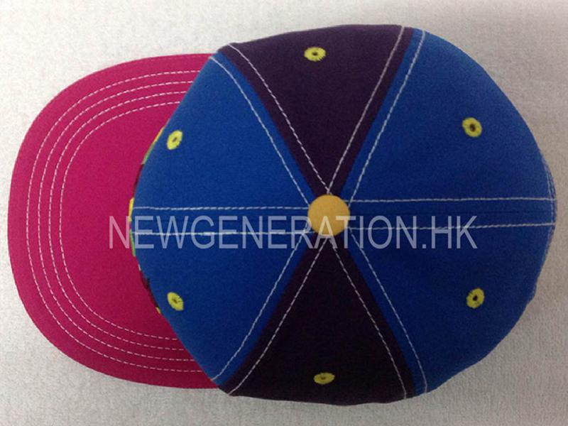 Cotton Snapback Cap With Mutlicolor 3d Embroidery5
