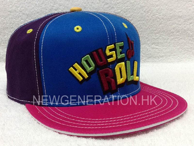 Cotton Snapback Cap with Mutlicolor 3D embroidery