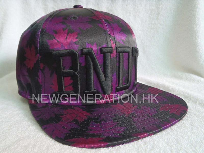 Sublimated Satin Strapback Cap with 3D Embroidery