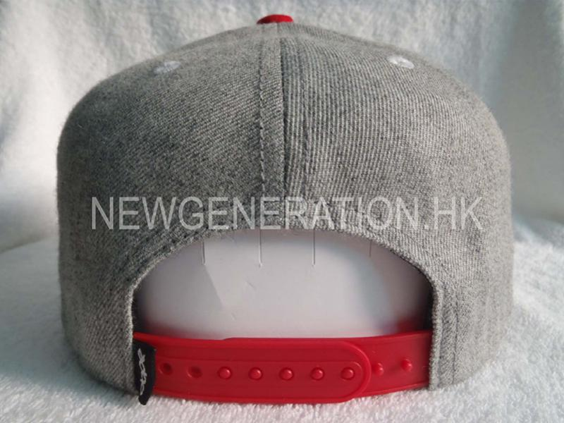 Wool Blend Snapback Cap With Chenille Embroidery4