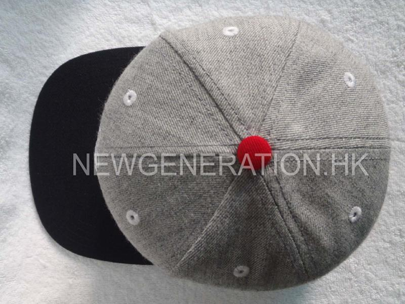 Wool Blend Snapback Cap With Chenille Embroidery5