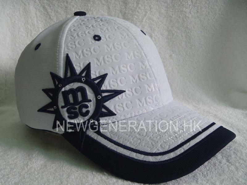 Embossed Ottoman Fabric Baseball Cap with 3D embroidery
