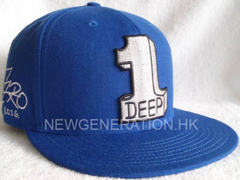 Fitted Cap with Big 3D Embroidery and Flat Embroidery