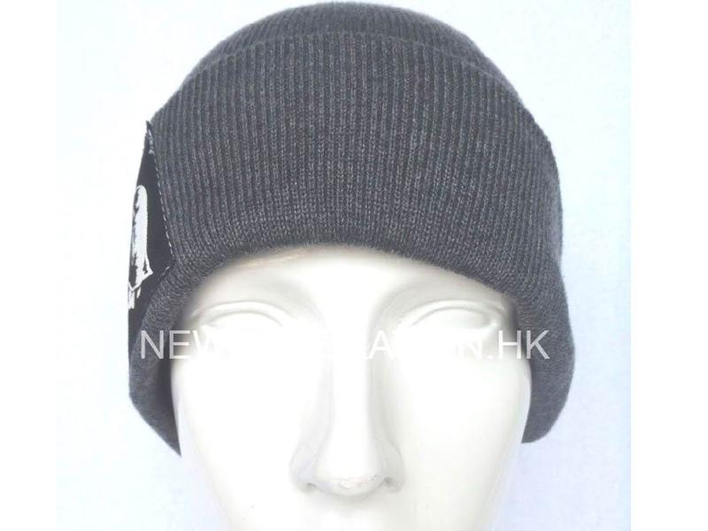 Acrylic Beanie with Woven Label