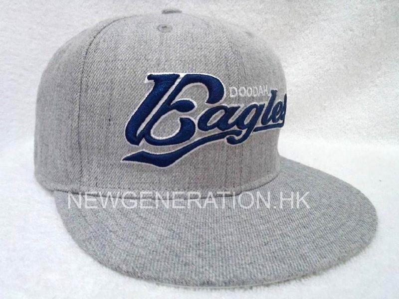 Wool Snap back Cap With 3D Embroidery