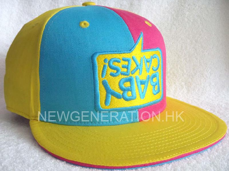 Cotton Fitted Cap With 3D Embroidery