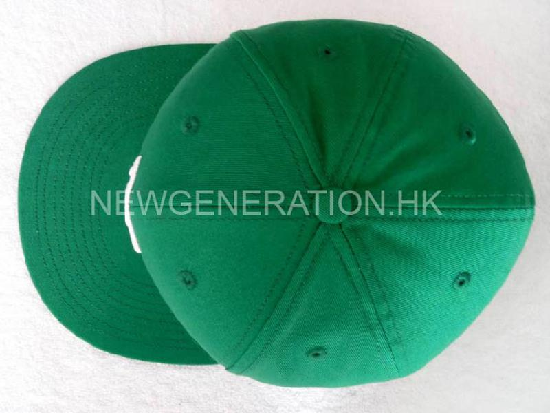 Cotton Fitted Cap With 3d Embroidery4