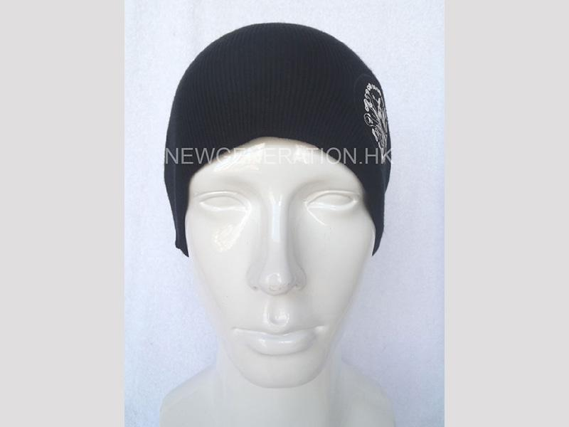 Beanie Hat With Printed Patch